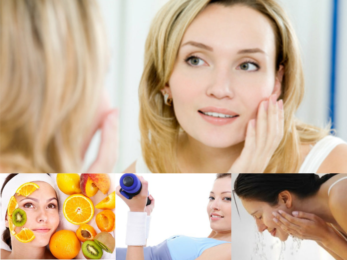 Younger looking skin naturally