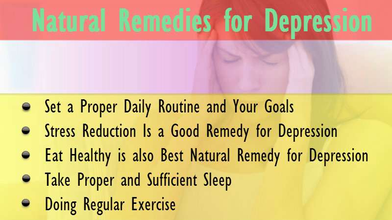 Remedies for depression and stress