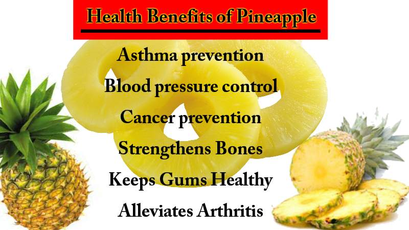 Health Benefits of Pineapple and it's Amazing Nutritional ...