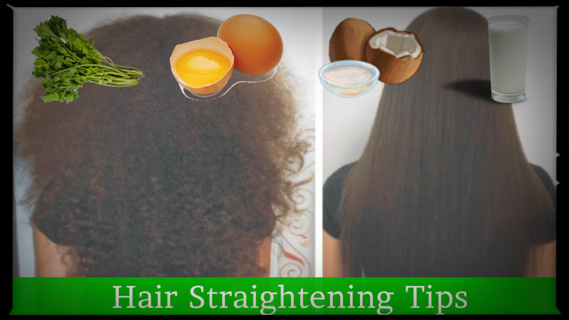 Natural hair straightening tips in hindi