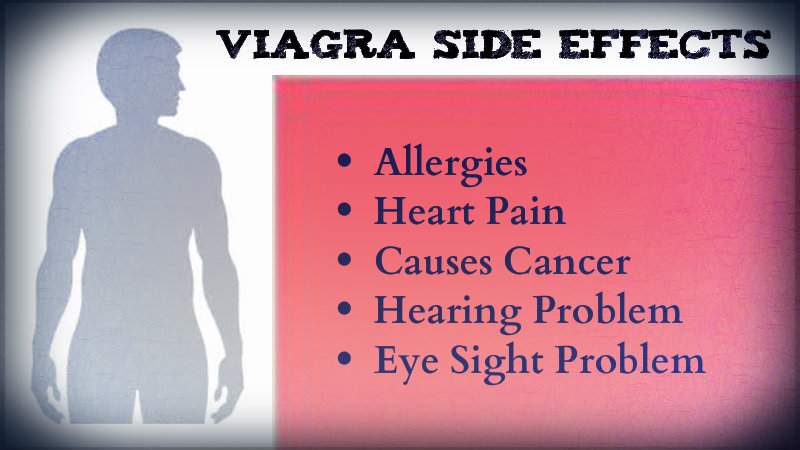 What are side effects of viagra on young people