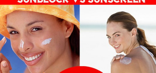 Sunblock vs Sunscreen