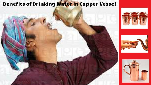 Drinking Water from Copper Vessel