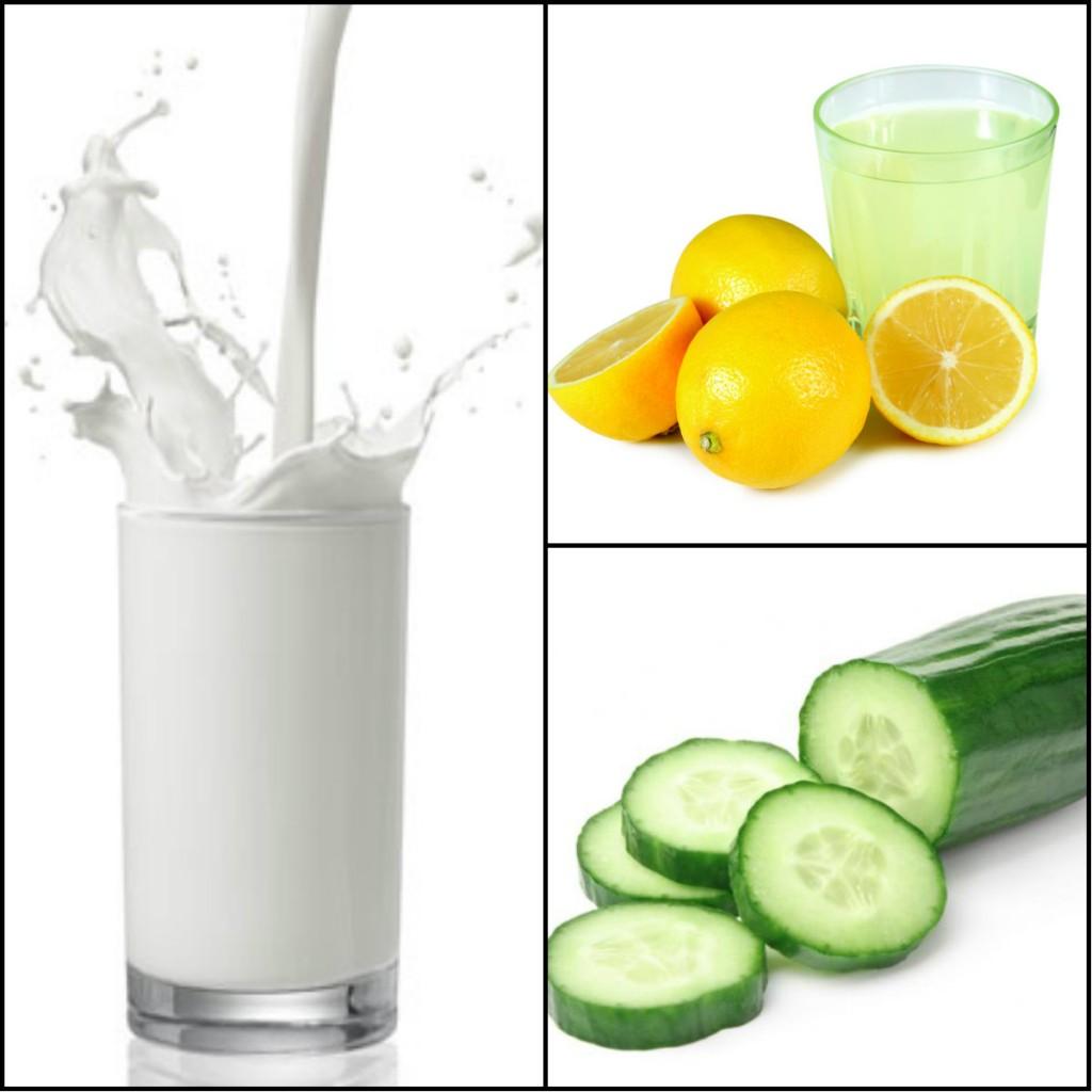 Lemon Juice, Cucumber and Milk