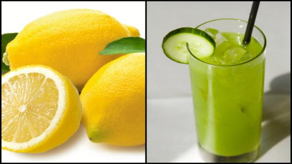 Lemon and Cucumber Juice