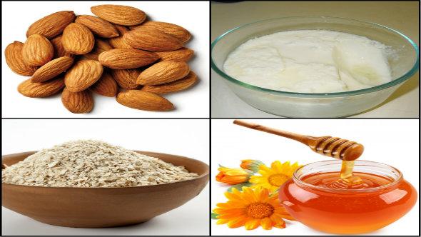 Oatmeal, yogurt, Honey and Almond
