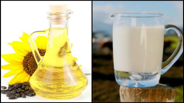 Sunflower Oil and Raw Milk