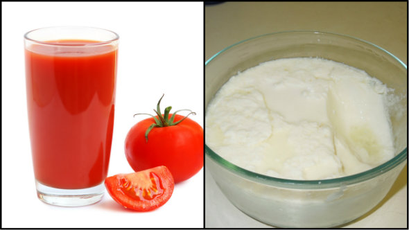 Tomato Juice and Curd