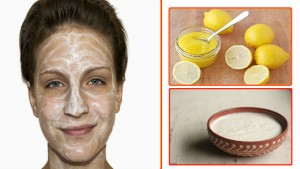 Lemon and Curd Face Mask