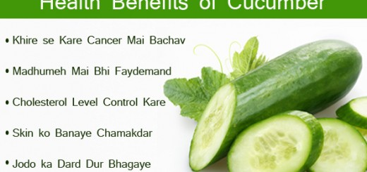 Health Benefits of Cucumbe