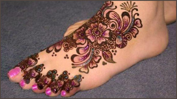 Flower Wali Mehndi : Mehndi design for legs