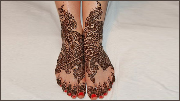 Mehndi Design for Legs