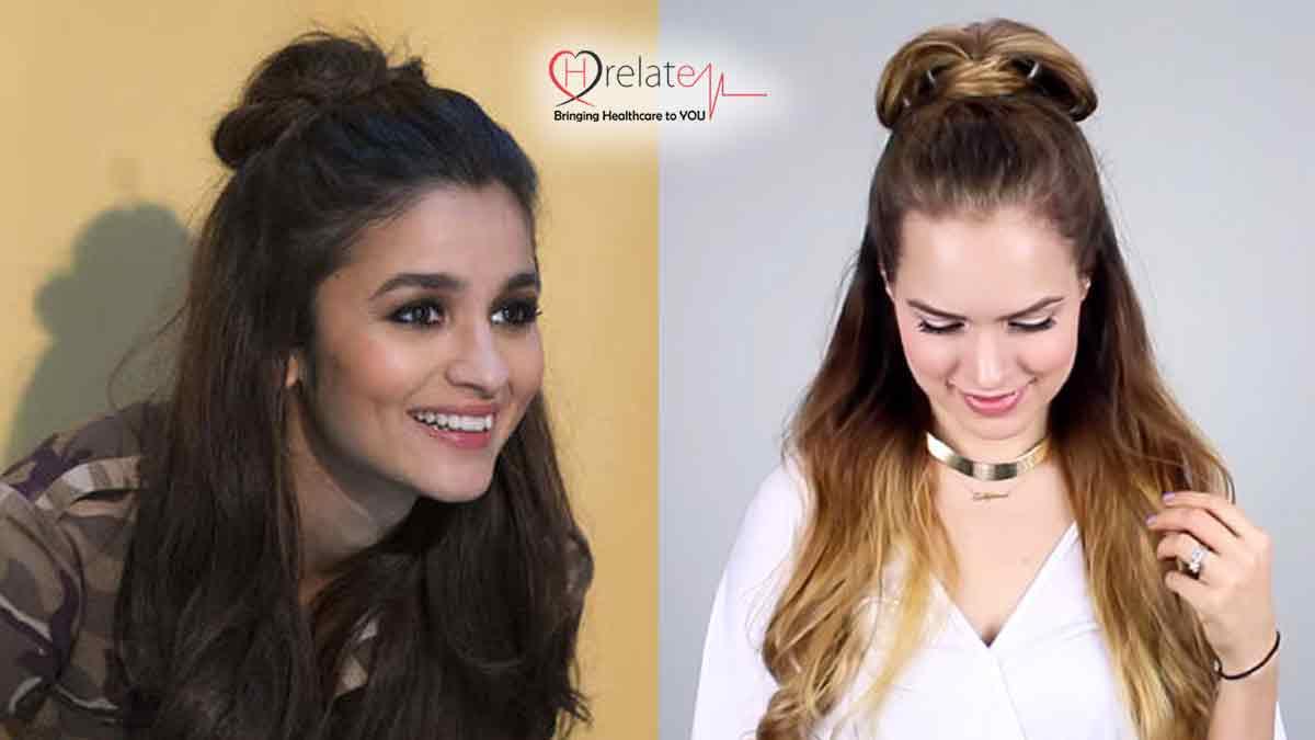half-hair-bun