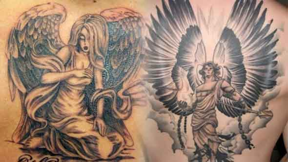 Angel Tattoos for Men in Hindi