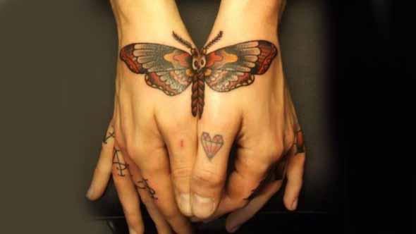 Split Butterfly Tattoo