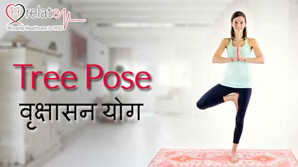 Vrikshasana in Hindi