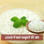 Sabudana Kheer Recipe in Hindi