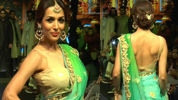 Malaika in Green Saree