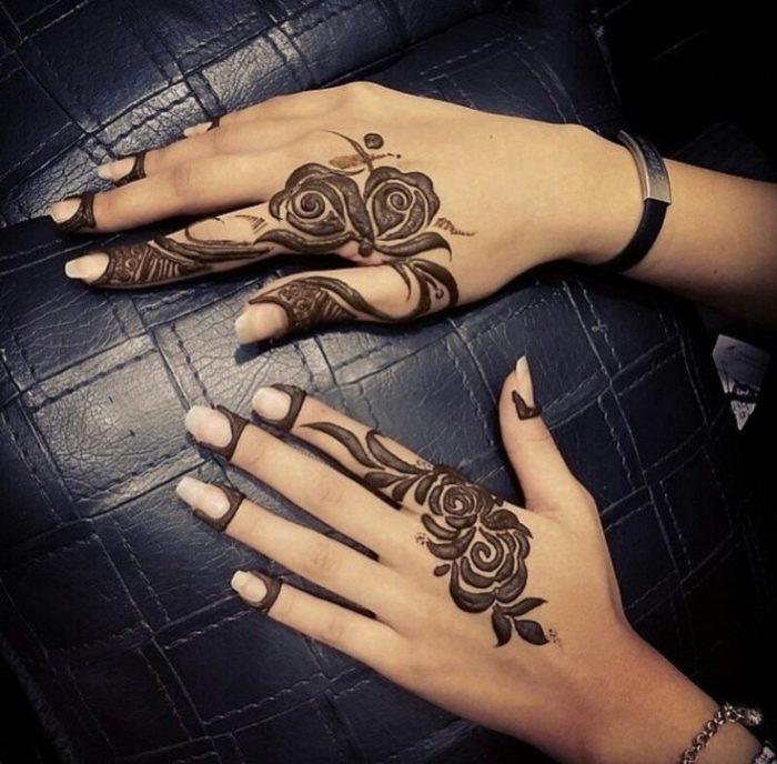Contemporary Mehndi Design