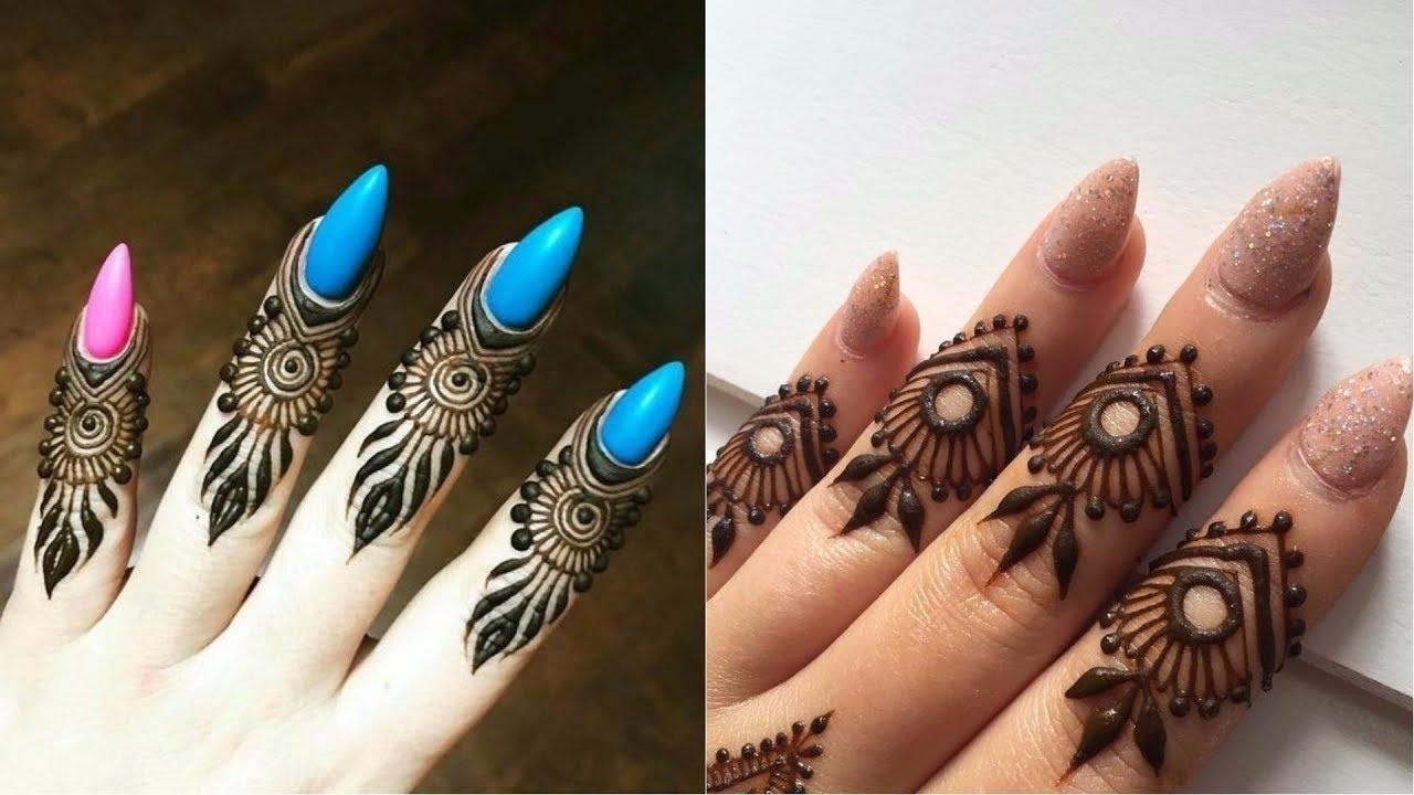 Fingertip Mehndi Design