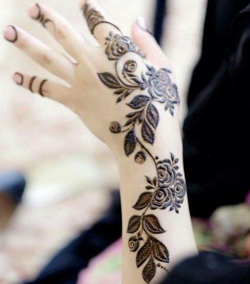 Leafy henna design