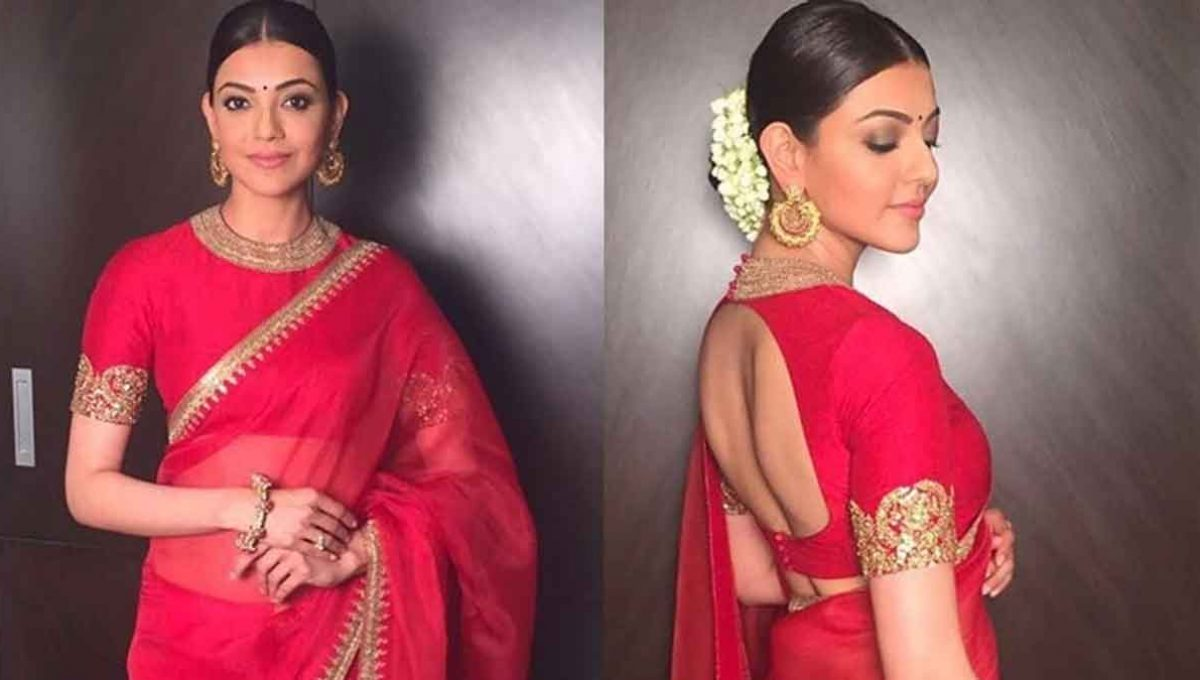 Closed Neck Blouse Designs – Kajal Aggarwal – Image (3)