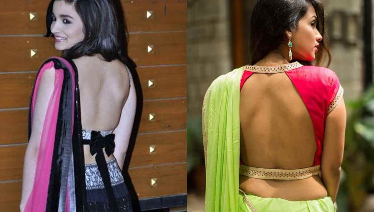 Backless Blouse Designs – Alia Bhatt – Image 4