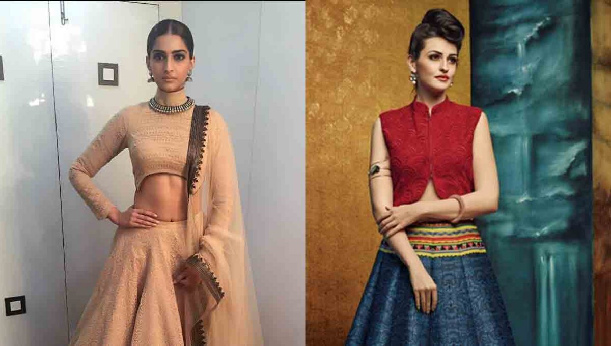 High Neck Lehenga Blouse Designs – Sonam Kapoor – Image 2