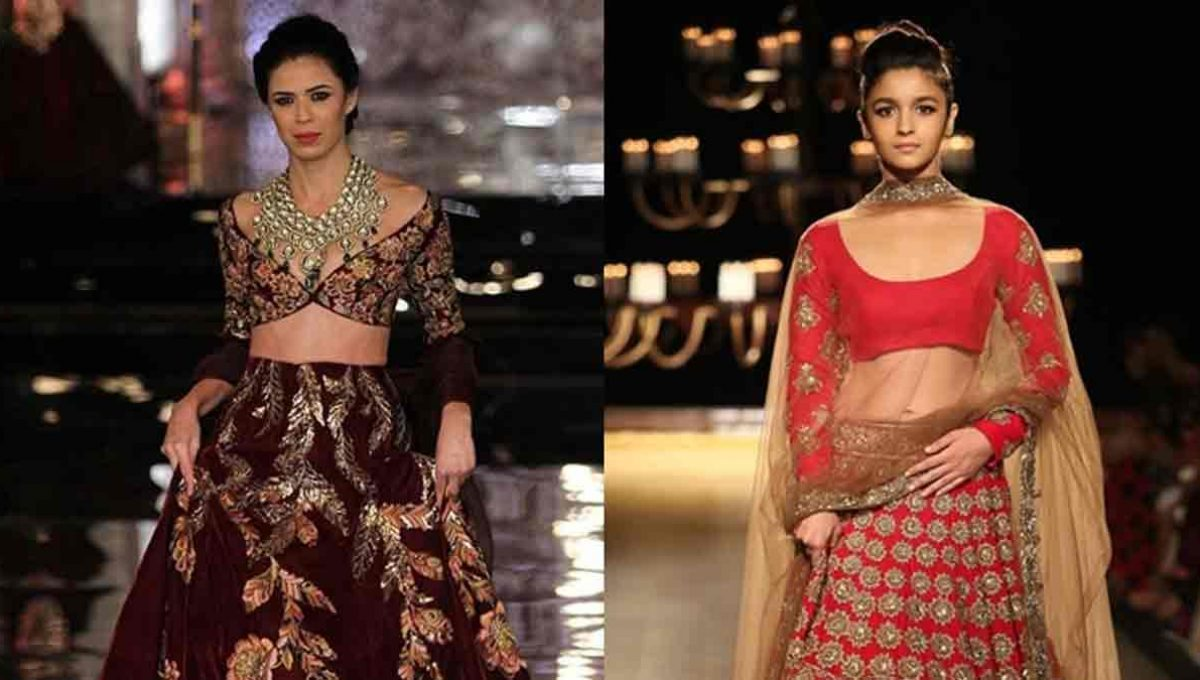 Long sleeves Lehenga Blouse Designs – Alia Bhatt – Image 2