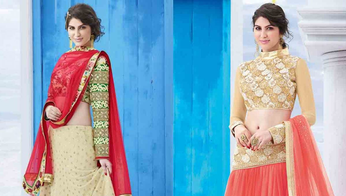 Long sleeves Lehenga Blouse Designs – Image 4