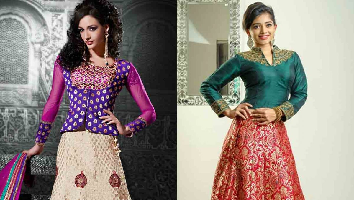 Long sleeves Lehenga Blouse Designs – Image 5