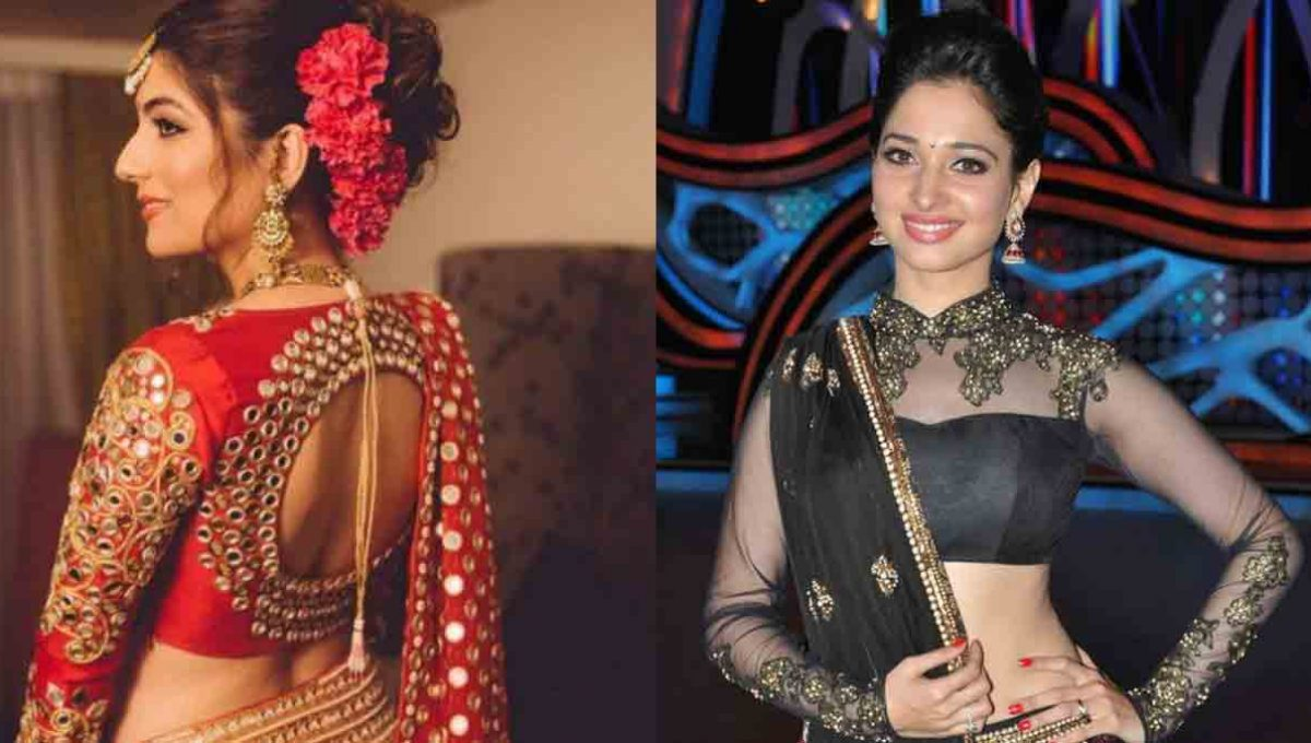 Long sleeves Lehenga Blouse Designs – Tamannaah Bhatia – Image 1