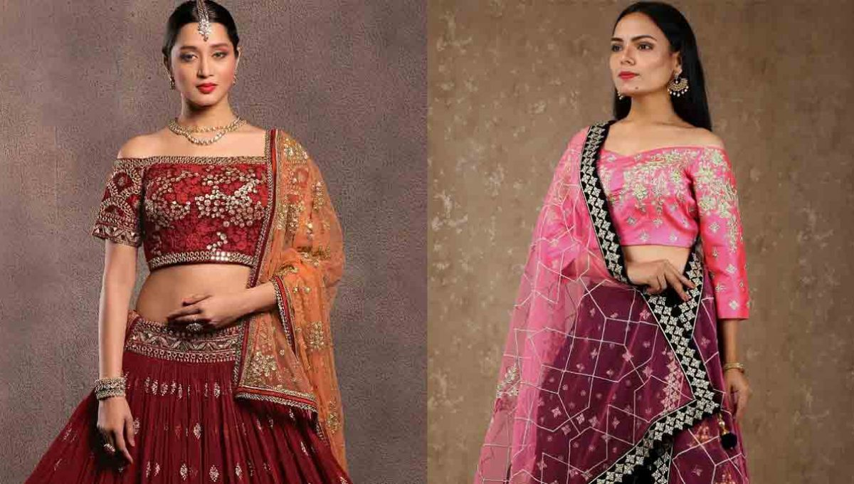 Off-shoulder Lehenga Blouse – Image 5