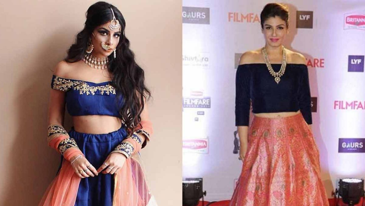 Off-shoulder Lehenga Blouse – Raveena Tandon – Image 2