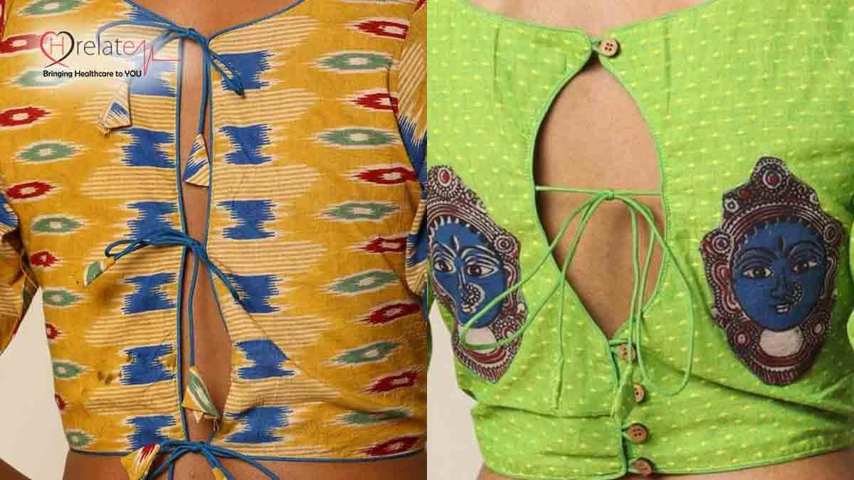 Back Knot Kalamkari Blouse